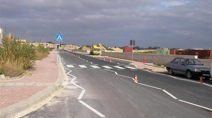Hal Far Project - Final Road Works completed with Road Markings